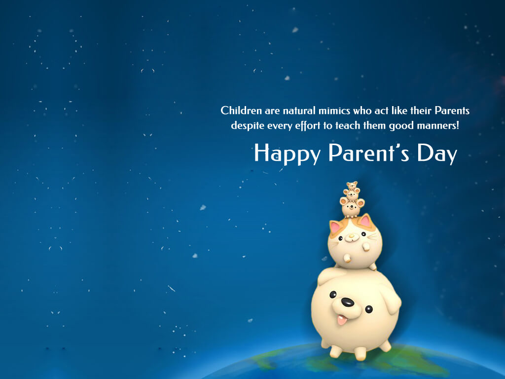 happy parents day piggies family hd wallpaper