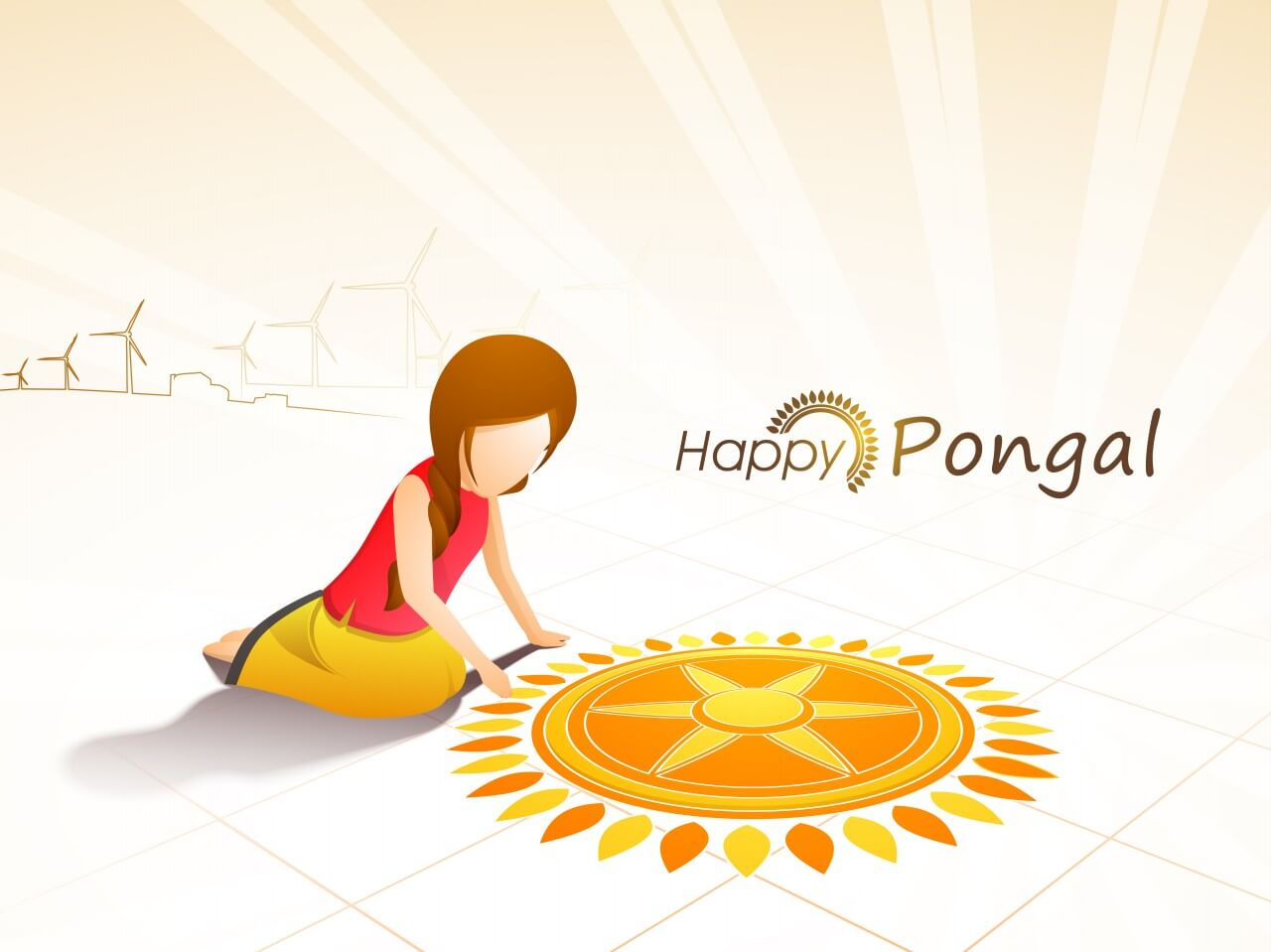 happy pongal background new hd wallpaper