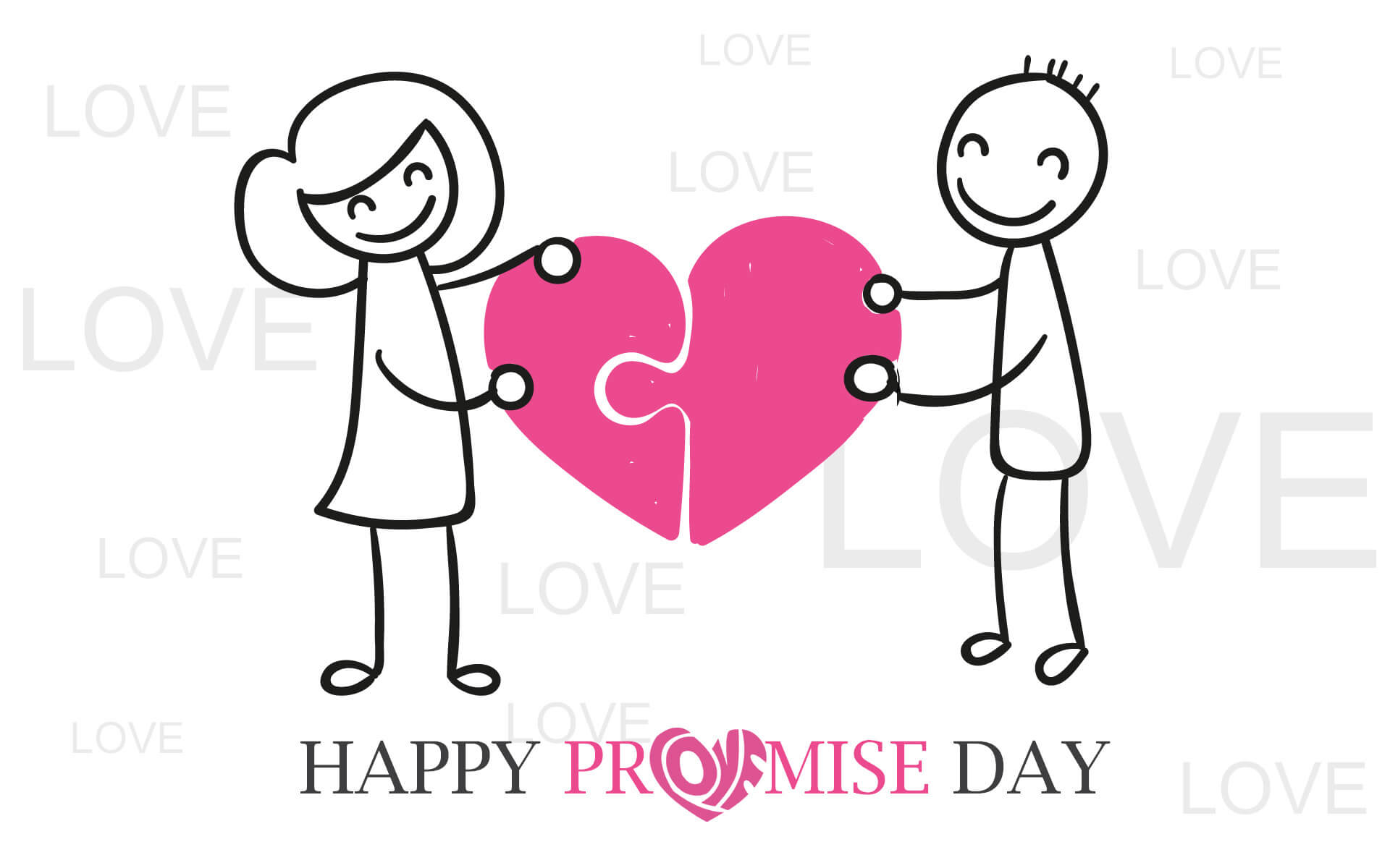 happy promise day wishes love valentine cartoon sketch cute hd wallpaper