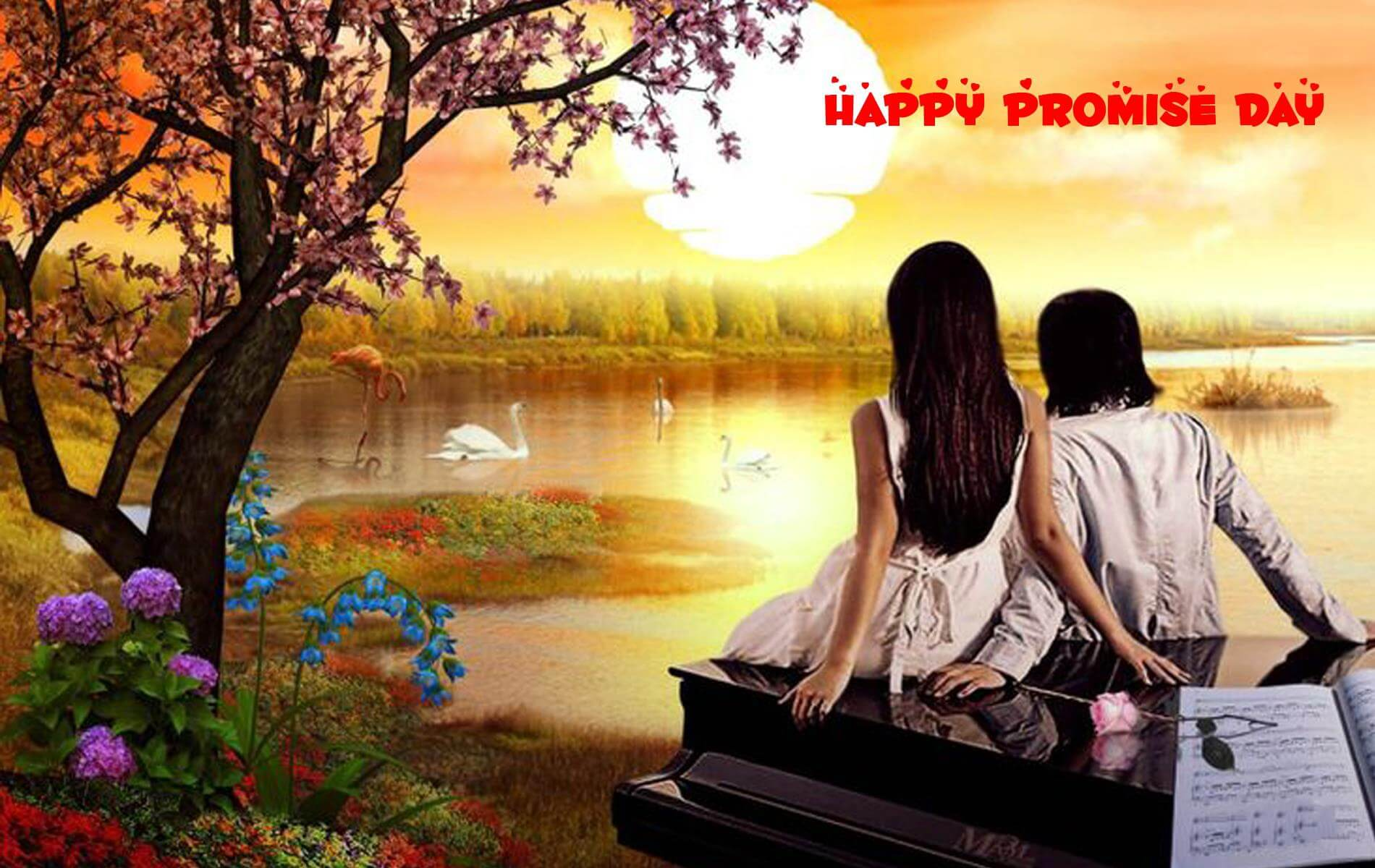 happy promise day wishes love valentine nature couples image hd wallpaper