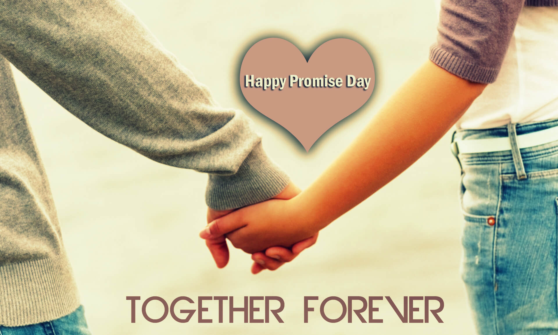 Charming Happy Promise Day Wishes Love Valentine Together Forever Image Hd Wallpaper