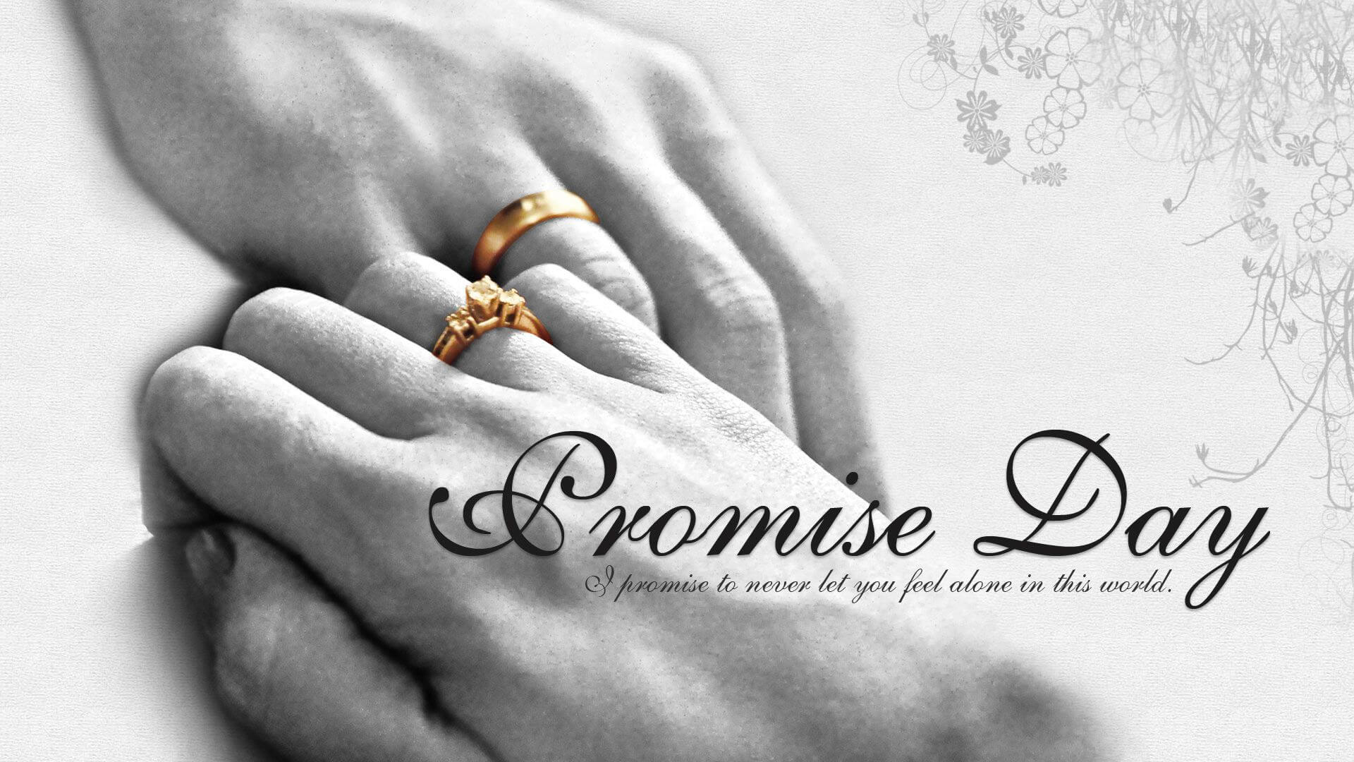 happy promise day wishes love valentine wedding rings quotes hd wallpaper
