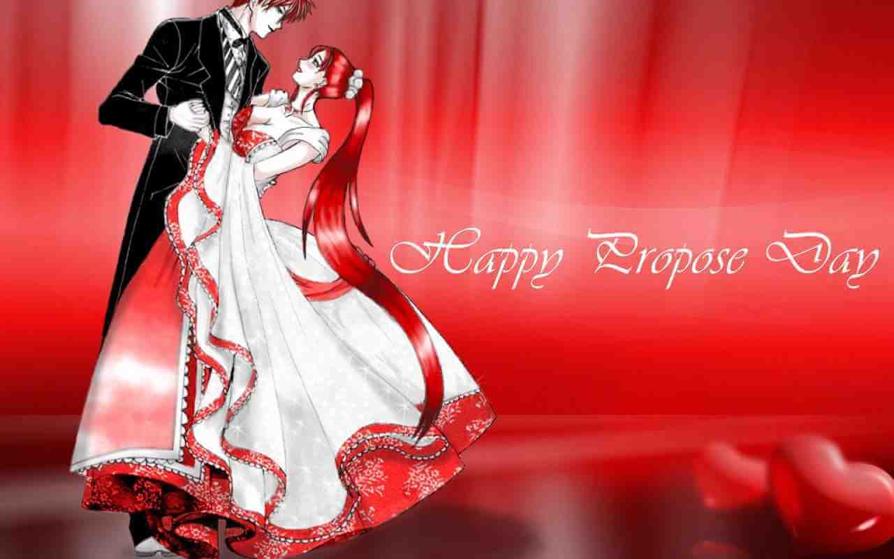 happy propose day anime couple dancing image picture hd wallpaper
