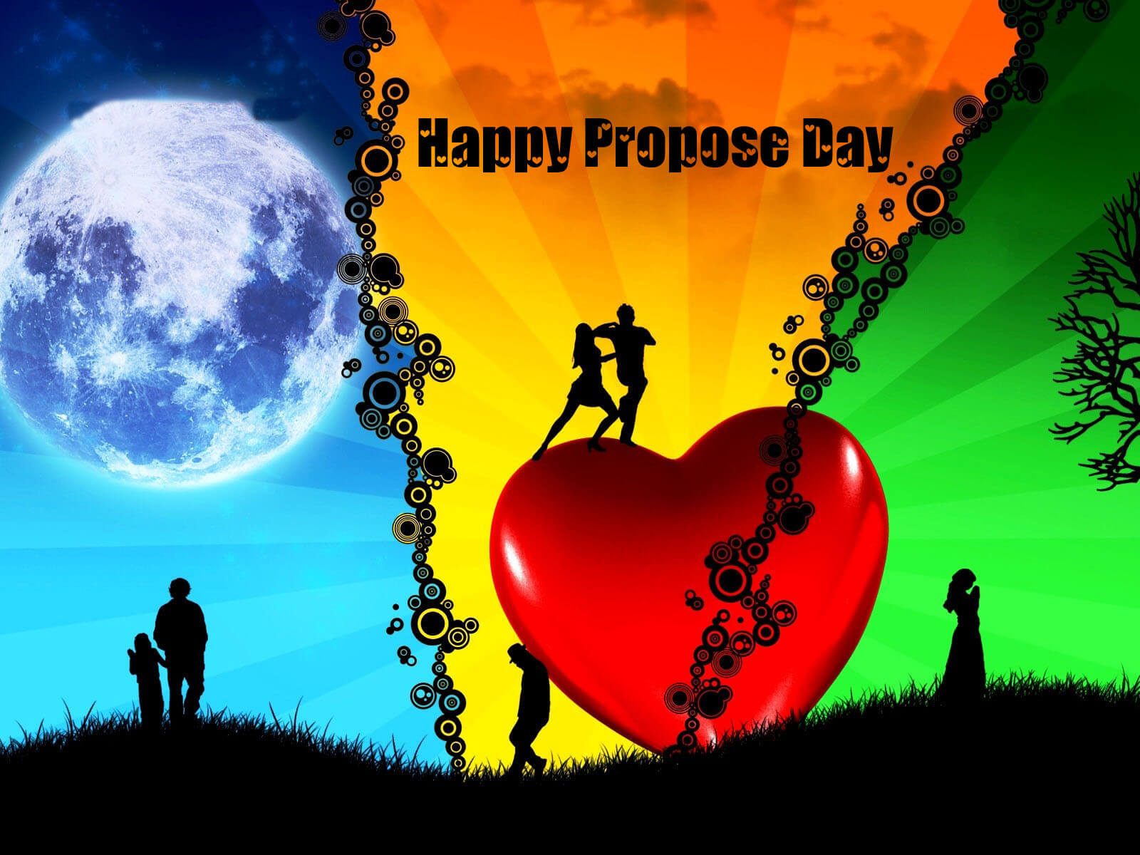 happy propose day couples february 8th desktop background hd wallpaper