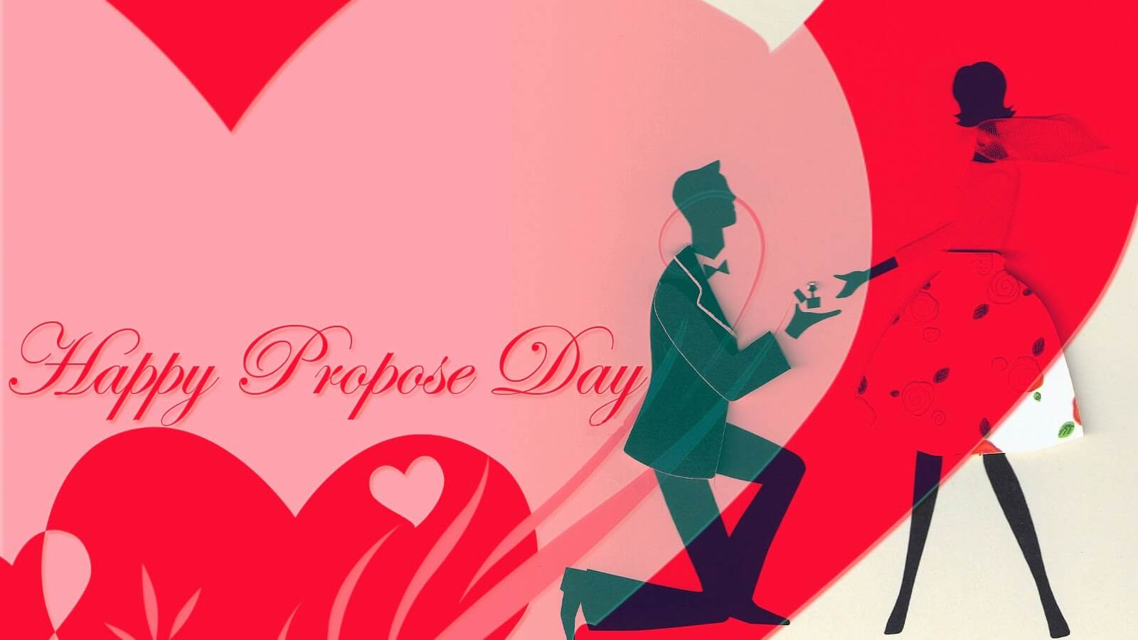 happy propose day couples february 8th modern cute background hd wallpaper