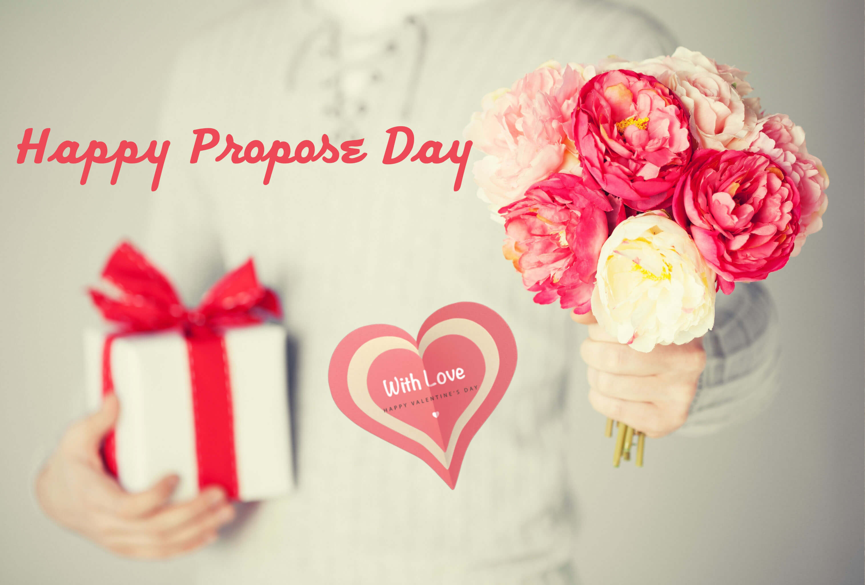 happy propose day gift roses 4k desktop background hd wallpaper