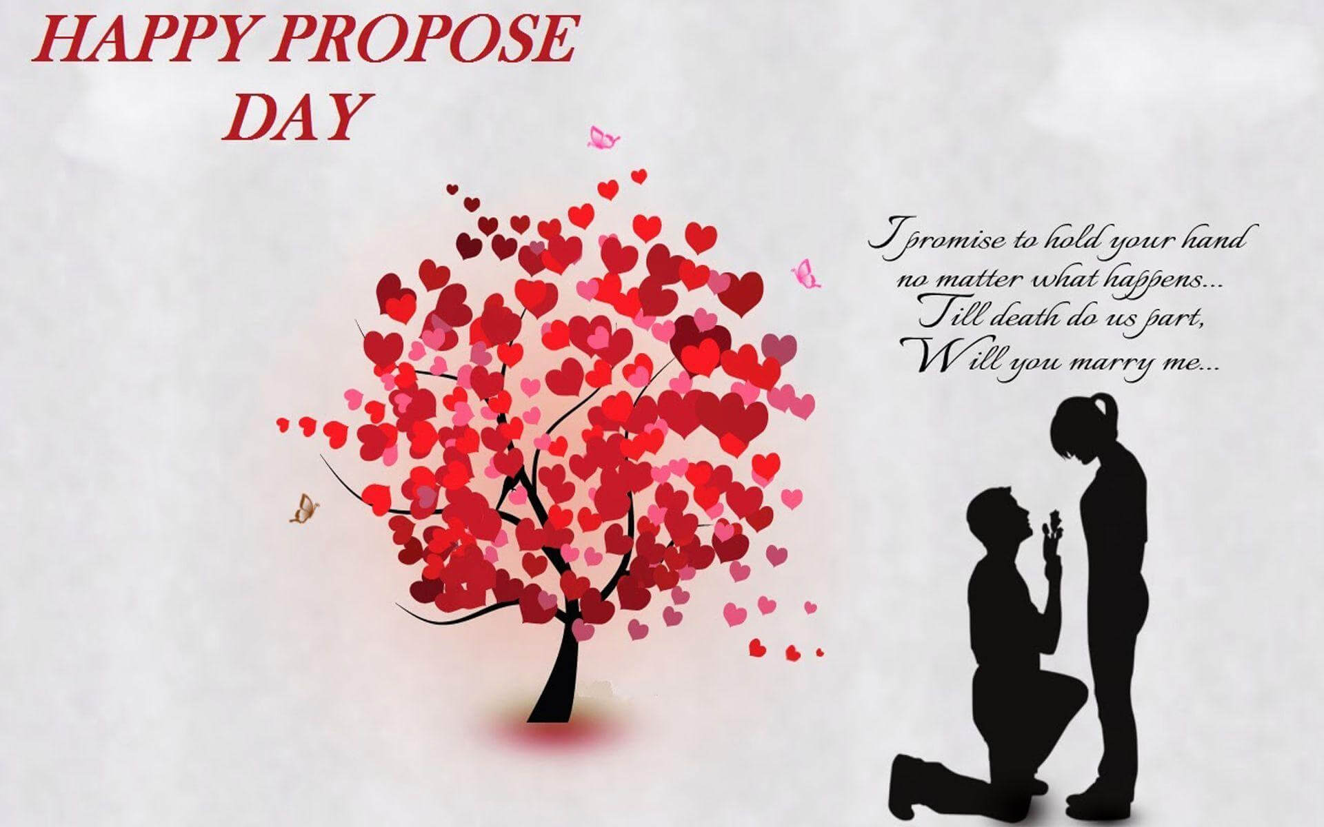 happy propose day love tree hearts quotes couples february 8th hd wallpaper