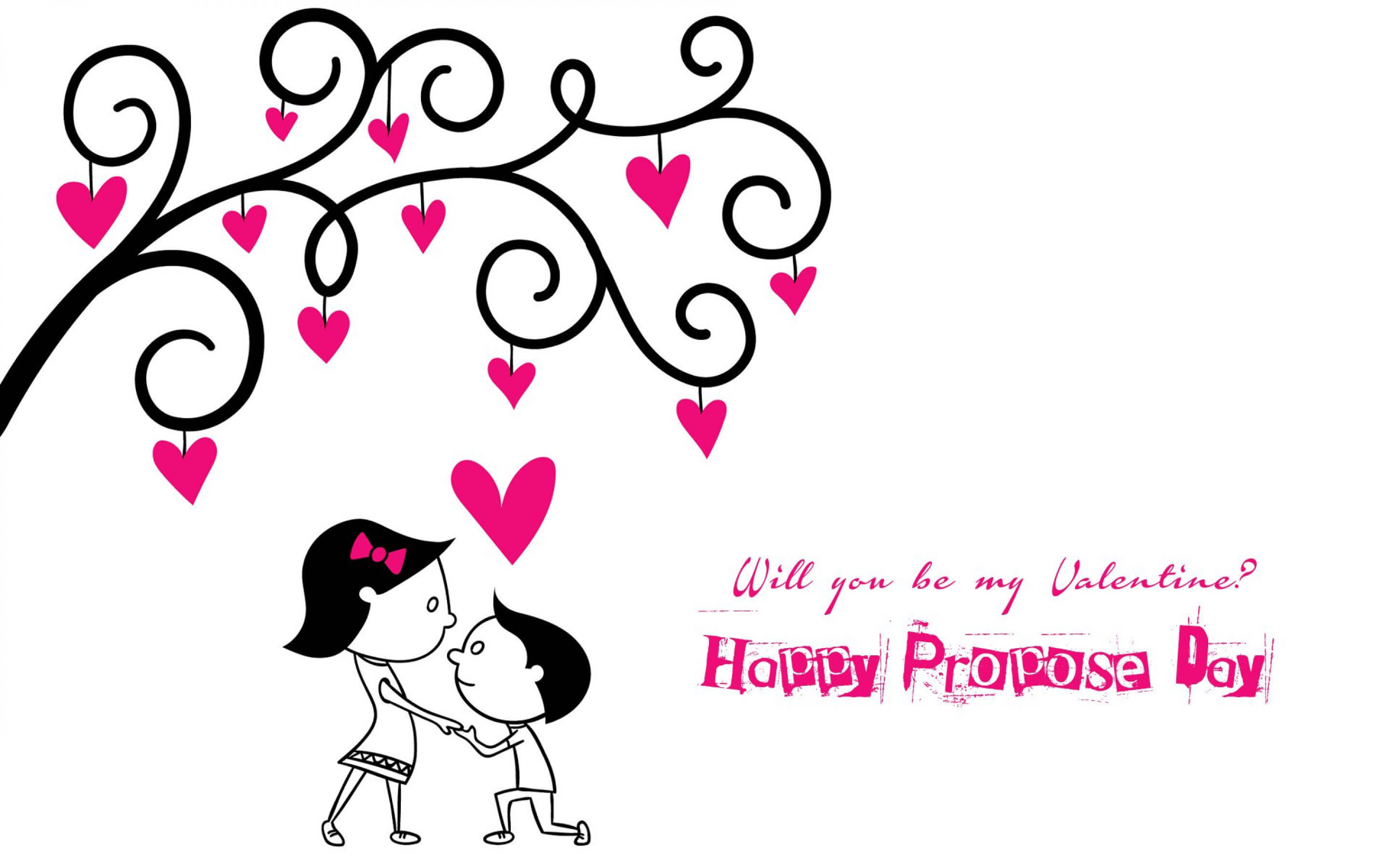 happy propose day will you be my valentine couples background latest hd wallpaper