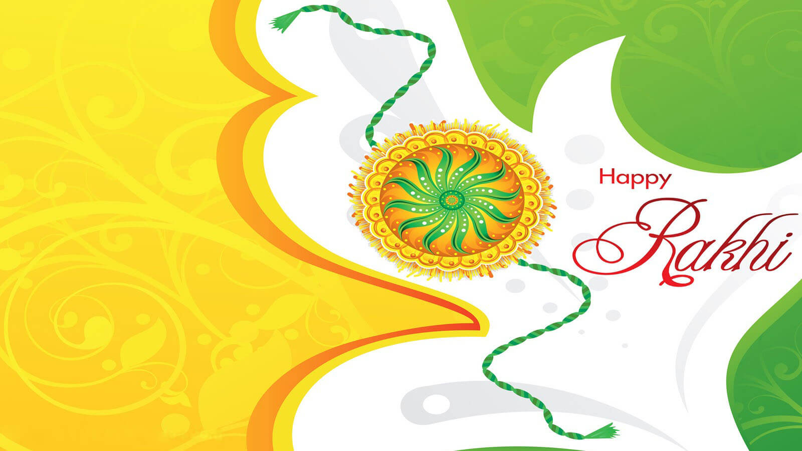 happy rakhi raksha bandhan greetings hd pc wallpaper