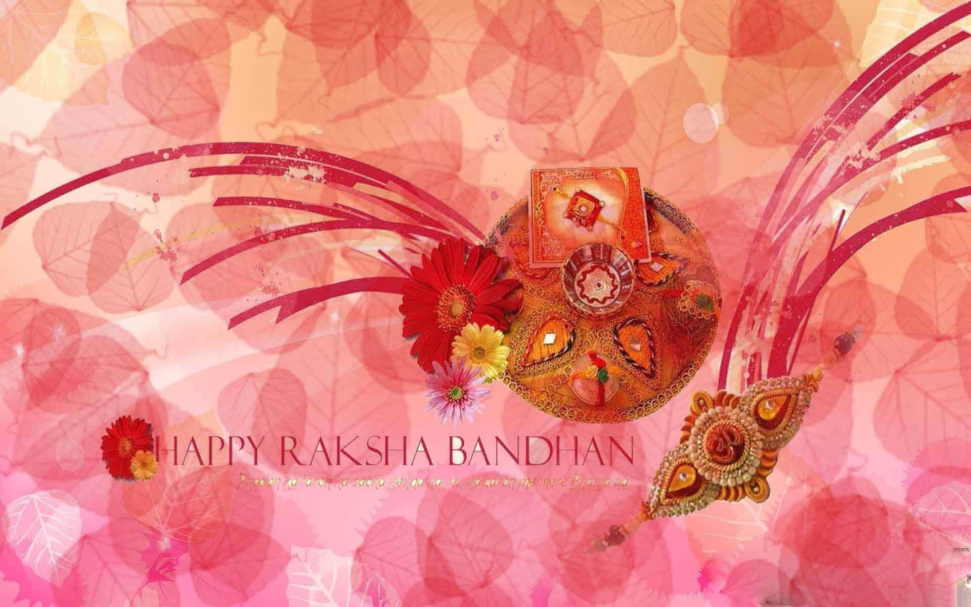 happy raksha bandhan rakhi cute latest hd wallpaper