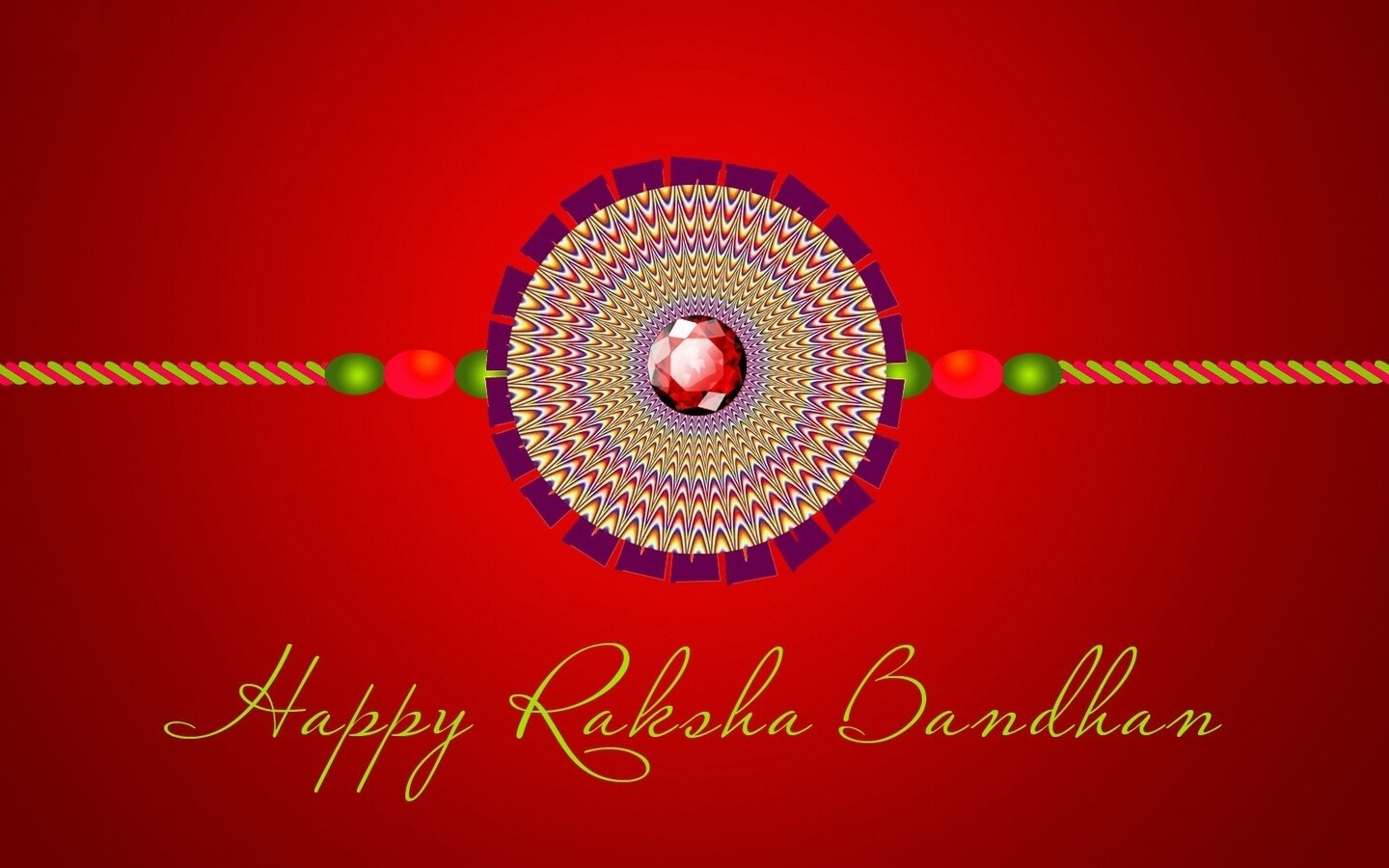 happy raksha bandhan rakhi hd illusion wallpaper