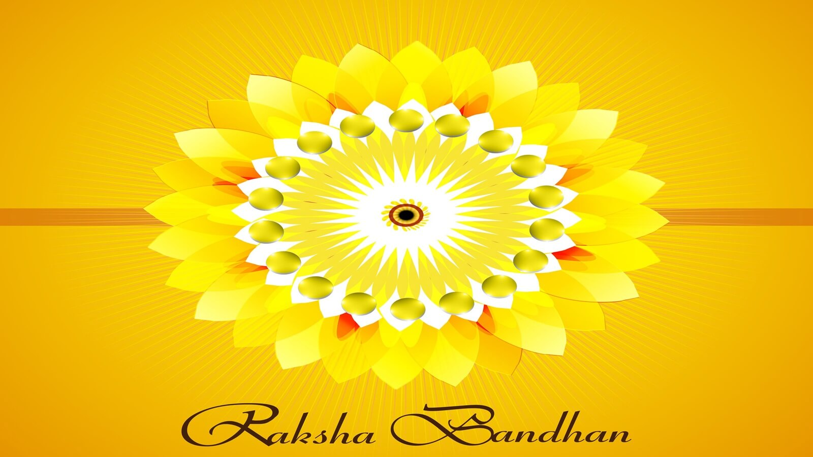 happy raksha bandhan yellow rakhi wishes hd wallpaper
