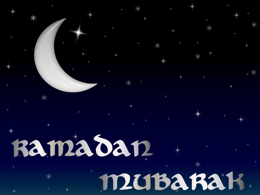 happy ramadan mubarak half moon wallpaper