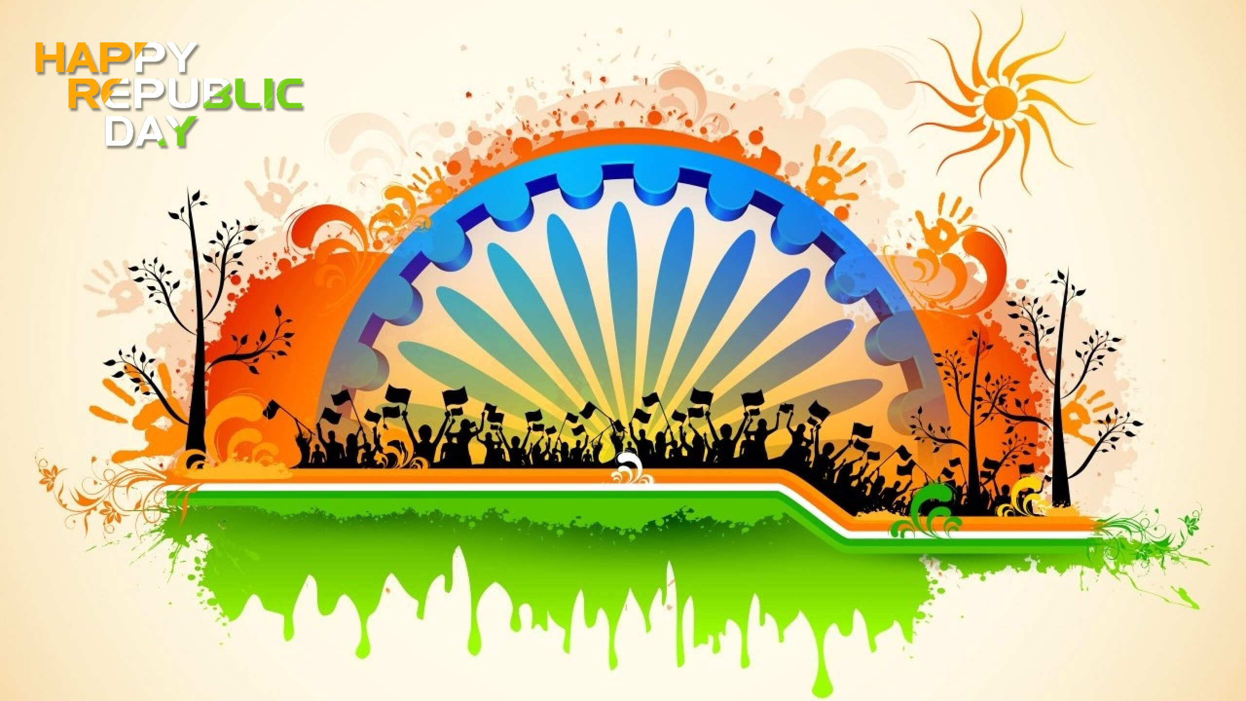 happy republic day wishes greetings india 26th january hd background wallpaper
