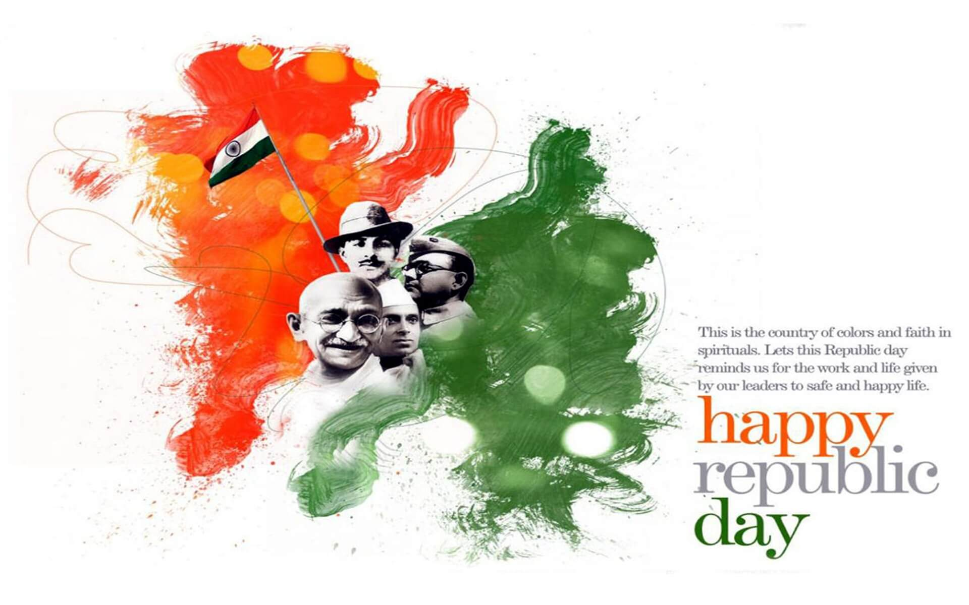 happy republic day wishes india january 26 freedom fighters hd pc wallpaper