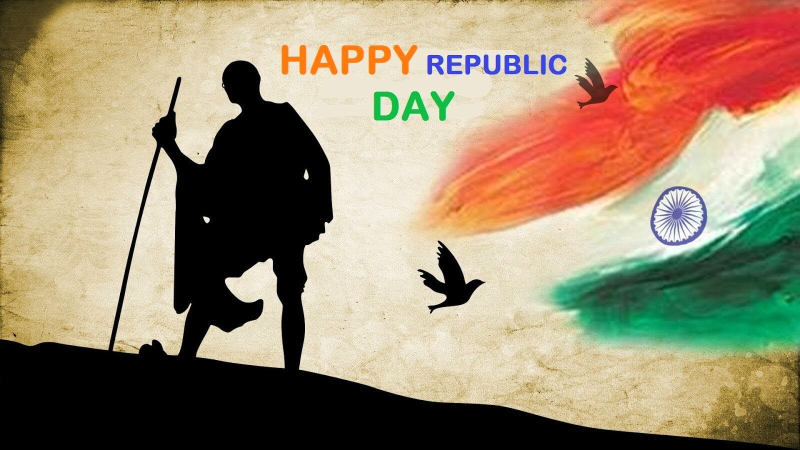 happy republic day wishes india mahatma gandhi 26 january hd wallpaper
