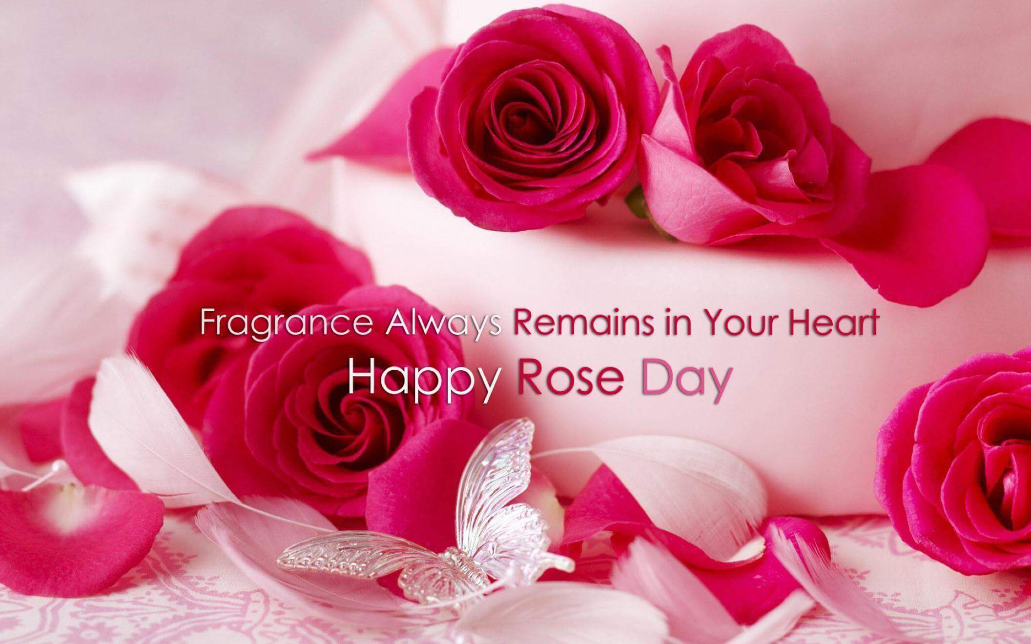 happy rose day wishes quotes fragrance heart love image pc hd wallpaper