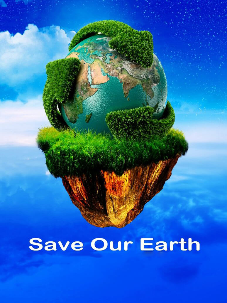 happy save our earth day green hd wallpaper