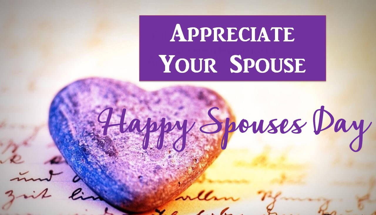 happy spouses day greetings wishes hd background wallpaper