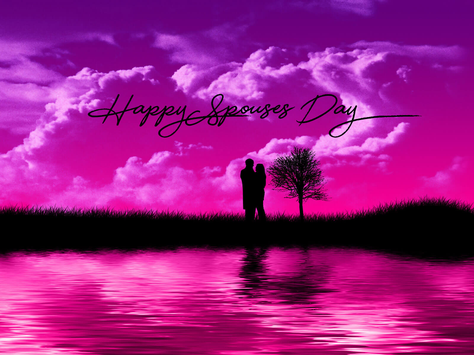 happy spouses day greetings wishes romantic love celebration hd wallpaper