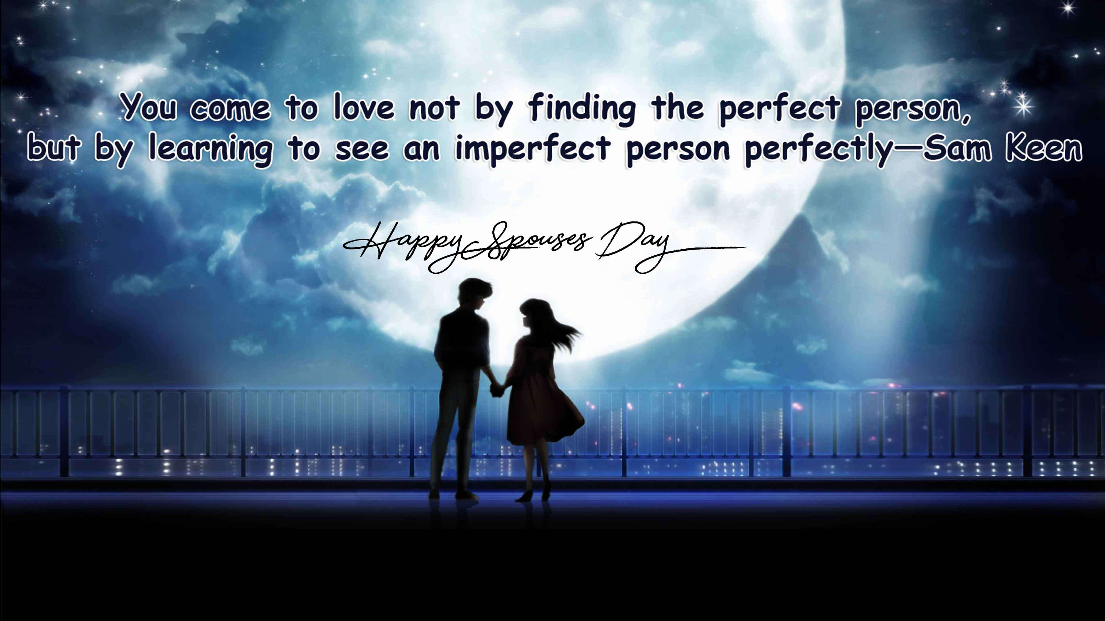 happy spouses day wishes cartoon romantic image quotes hd wallpaper