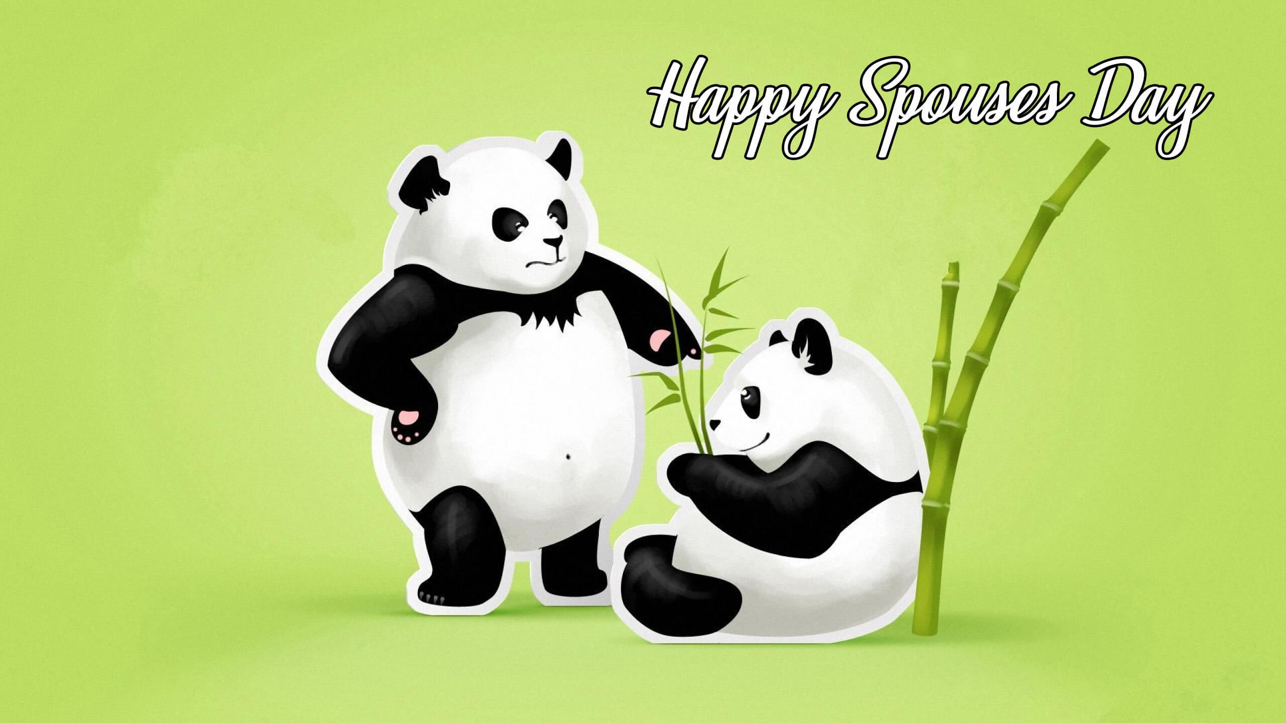 happy spouses day wishes greetings pandas desktop hd wallpaper