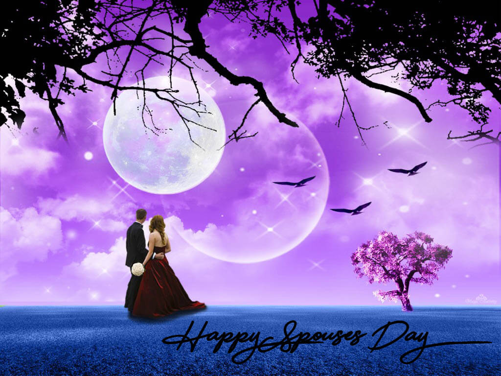 happy spouses day wishes greetings romantic pc desktop hd wallpaper