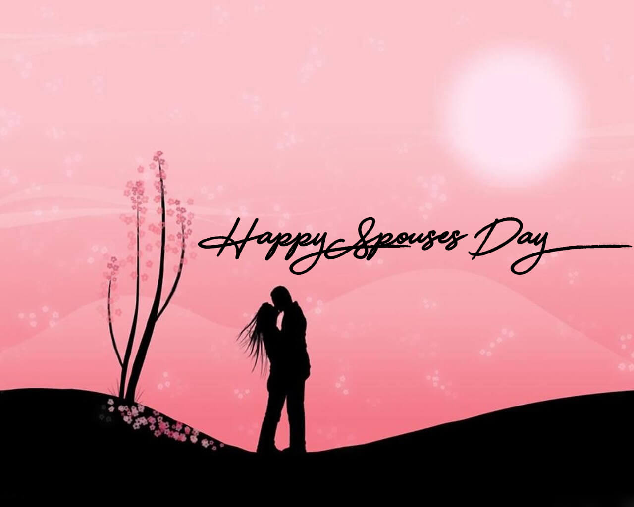 happy spouses day wishes love celebration hd wallpaper