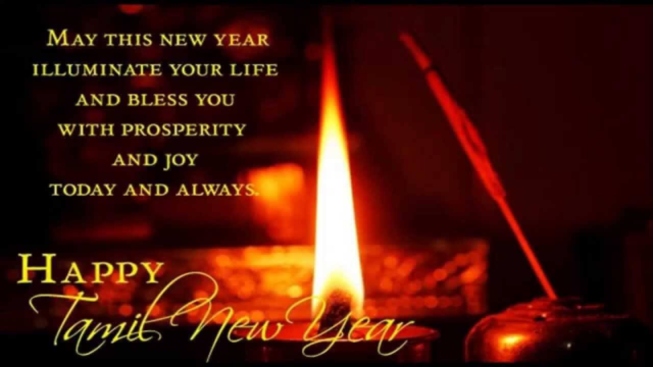 Happy Tamil New Year Greetings Puthaandu Fireworks Hd Wallpaper
