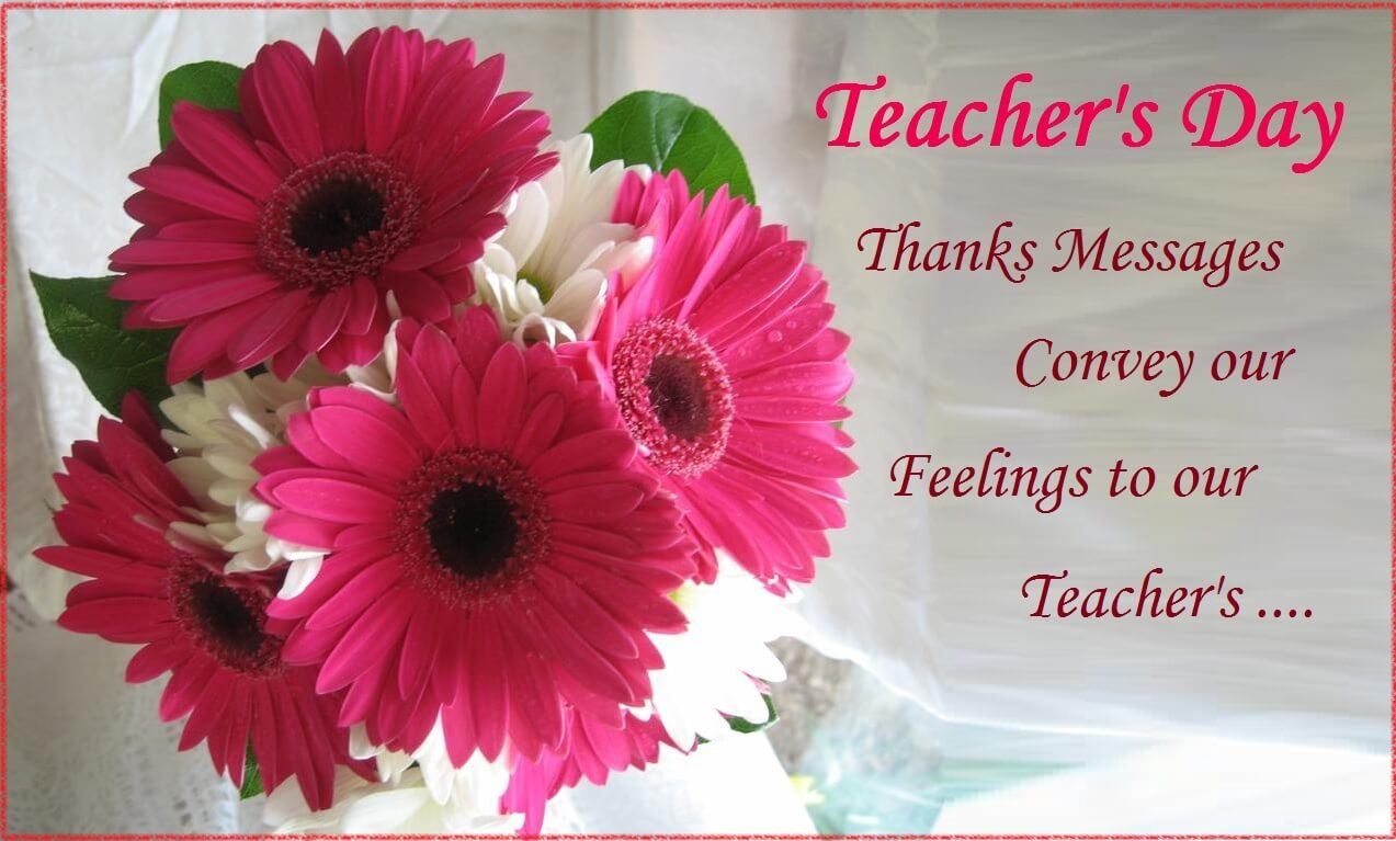 happy teachers day flower greetings card wallpaper