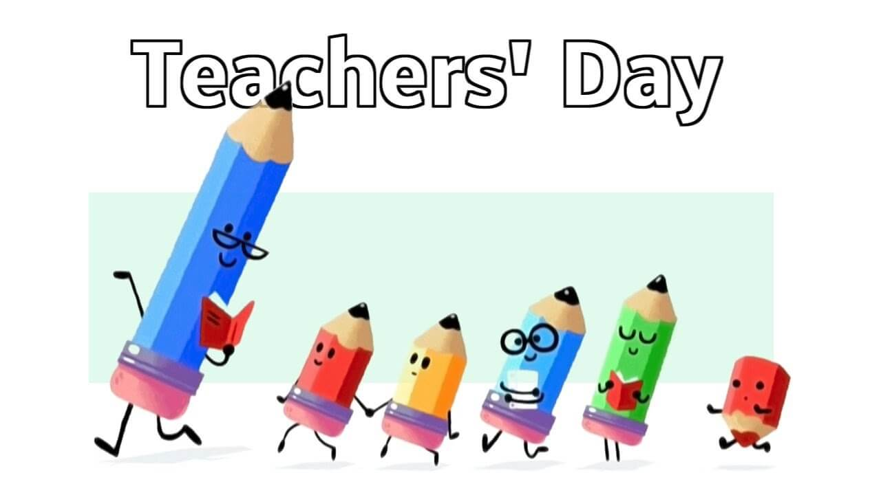 happy teachers day pencils clipart wallpaper