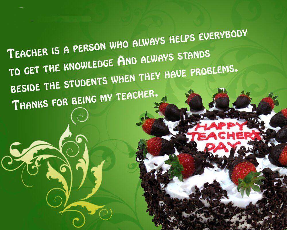 happy teachers day quotes cake wallpaper