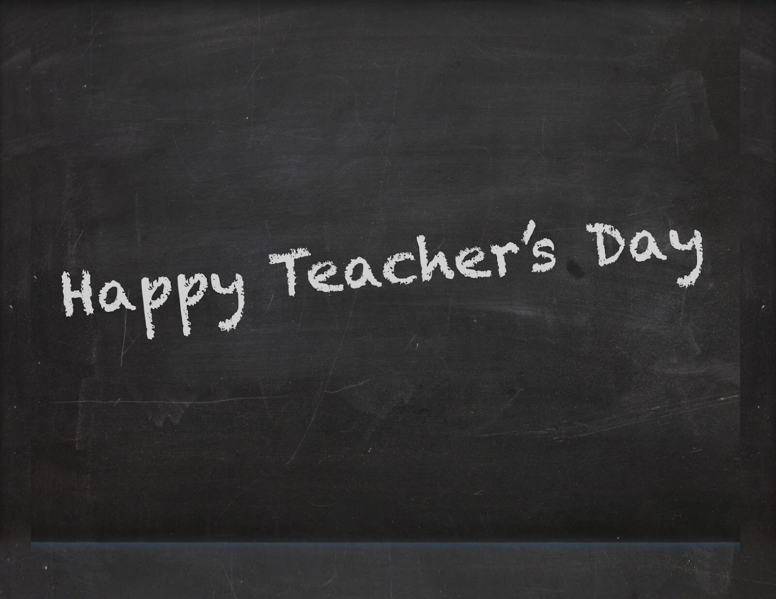 happy teachers day wishes on a blackboard