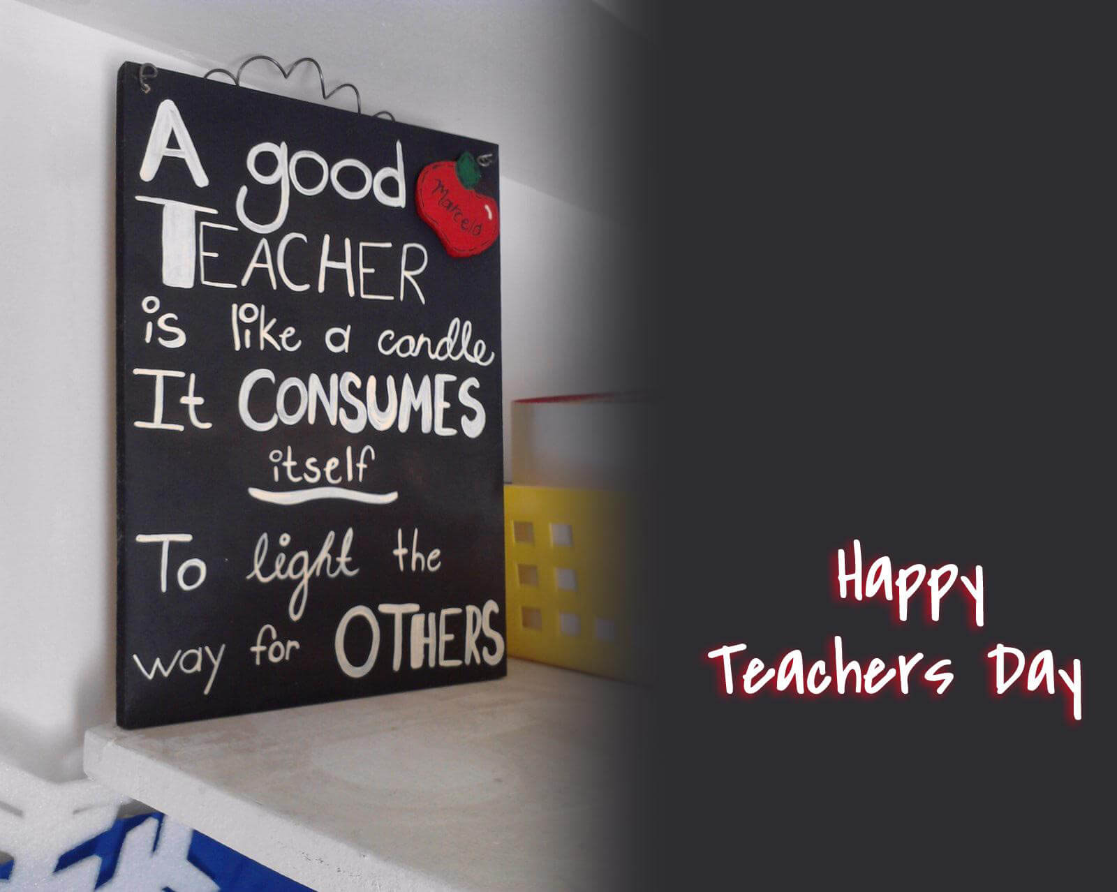 happy teachers day wishes quotes on a blackboard
