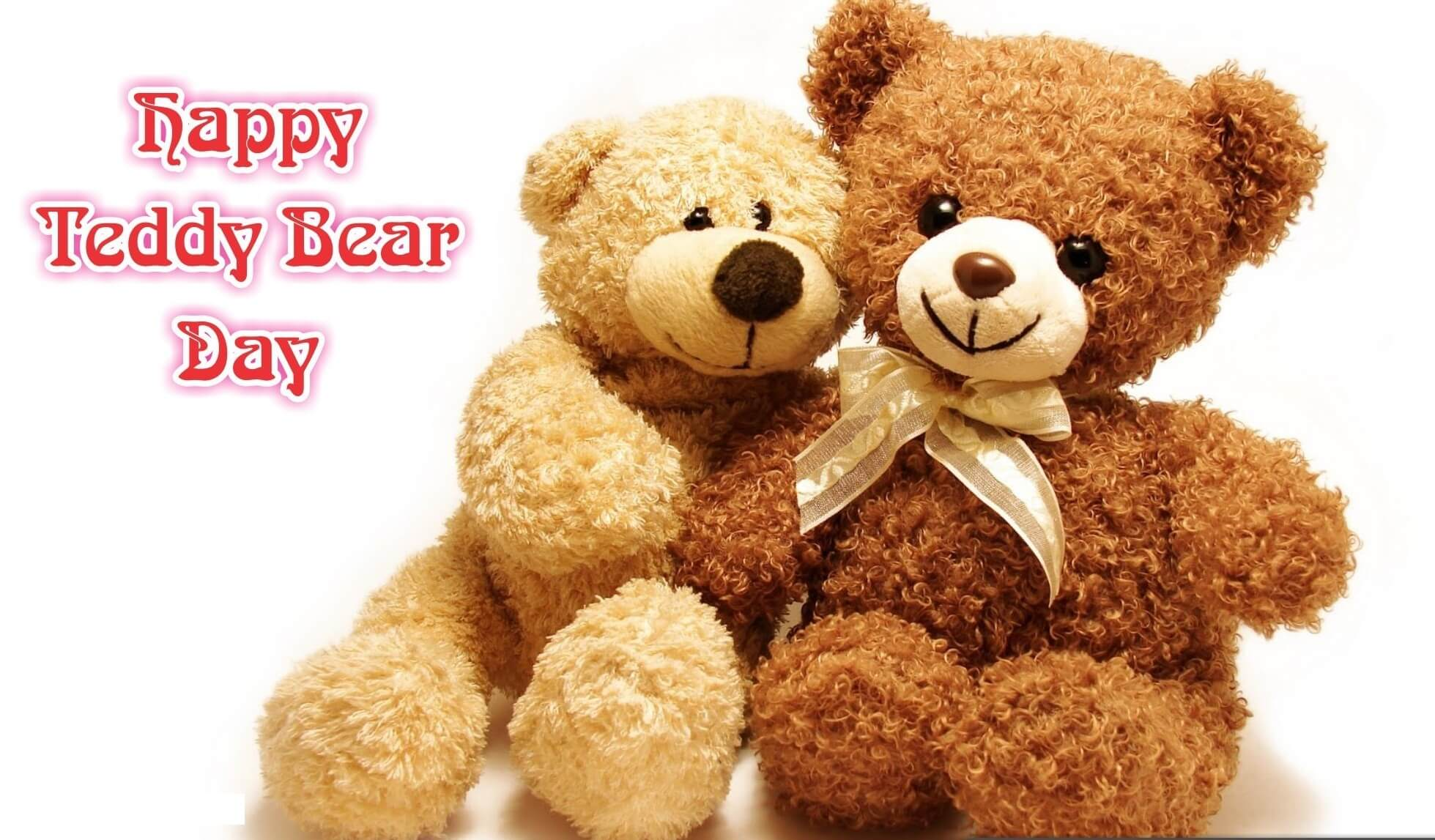happy teddy day wishes bear couples image february 10th hd wallpaper