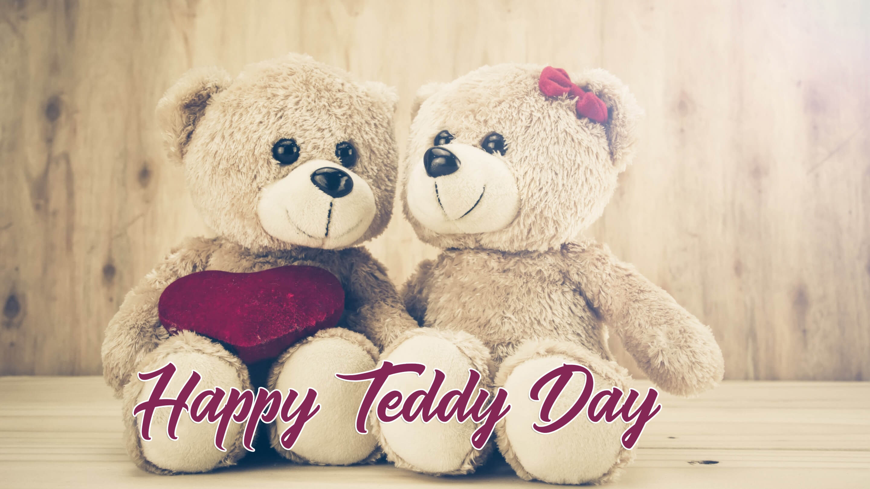 happy teddy day wishes bear couples image large background hd wallpaper