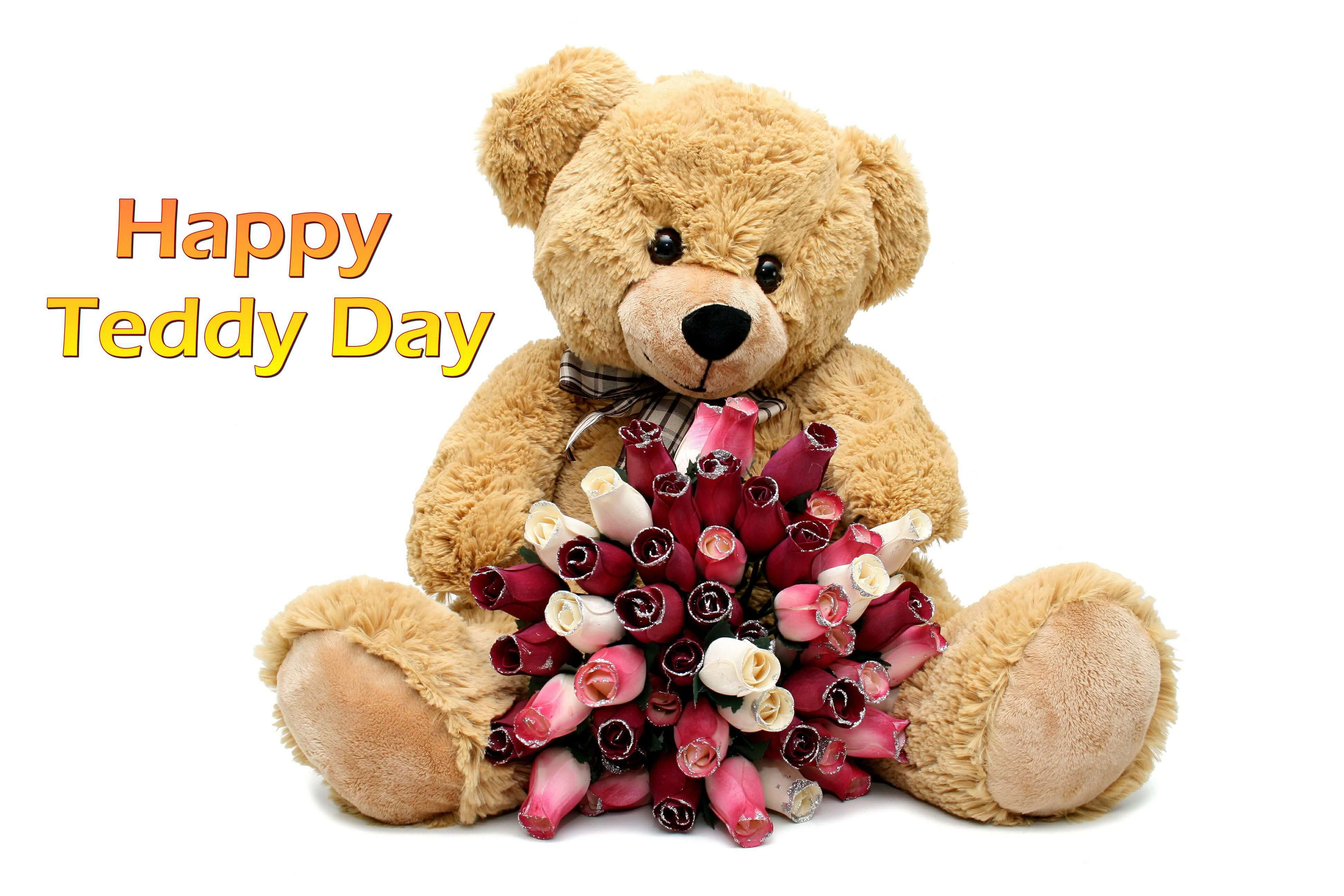 happy teddy day wishes bear graphic image february 10th large hd wallpaper