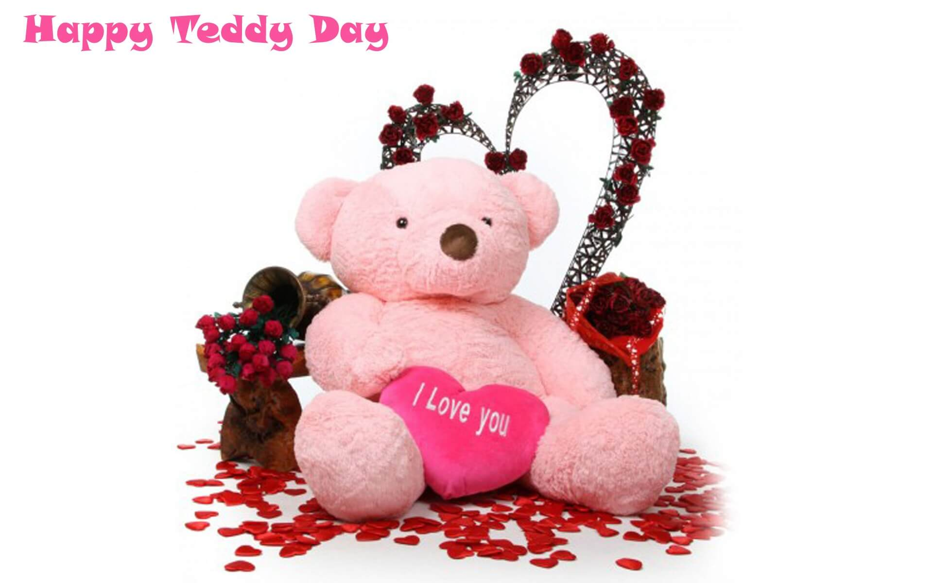 happy teddy day wishes bear i love you image february 10th hd wallpaper