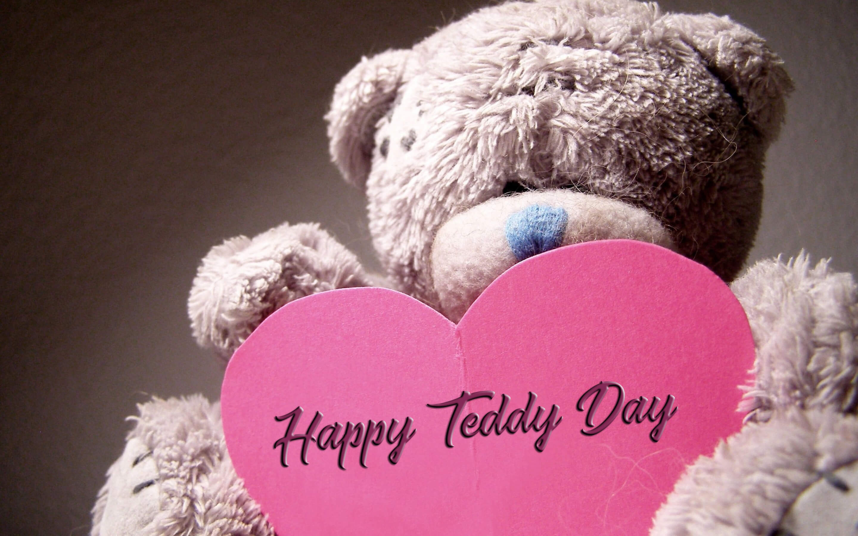 happy teddy day wishes bear large image facebook desktop hd wallpaper
