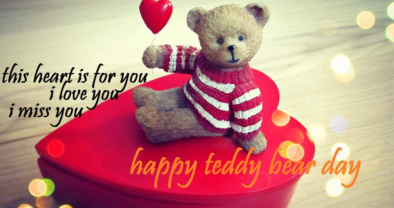 happy teddy day wishes bear love miss you image facebook hd wallpaper