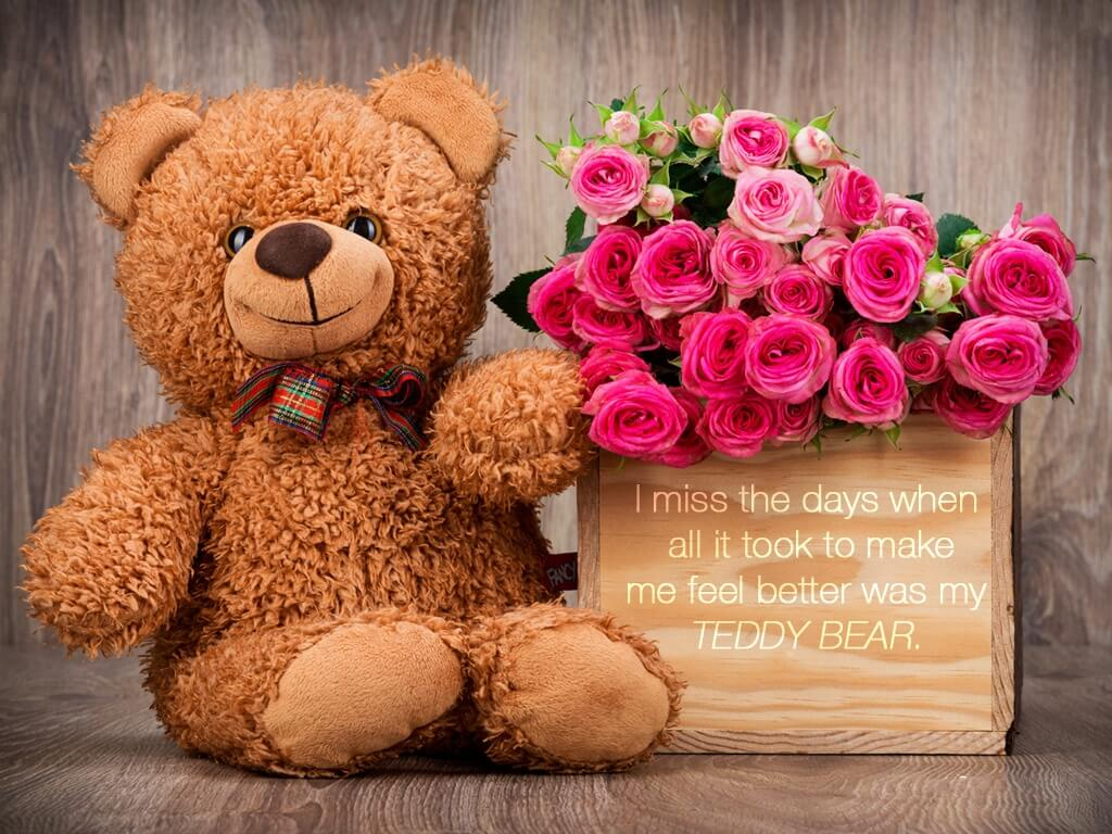 happy teddy day wishes bear quotes image february 10th hd wallpaper