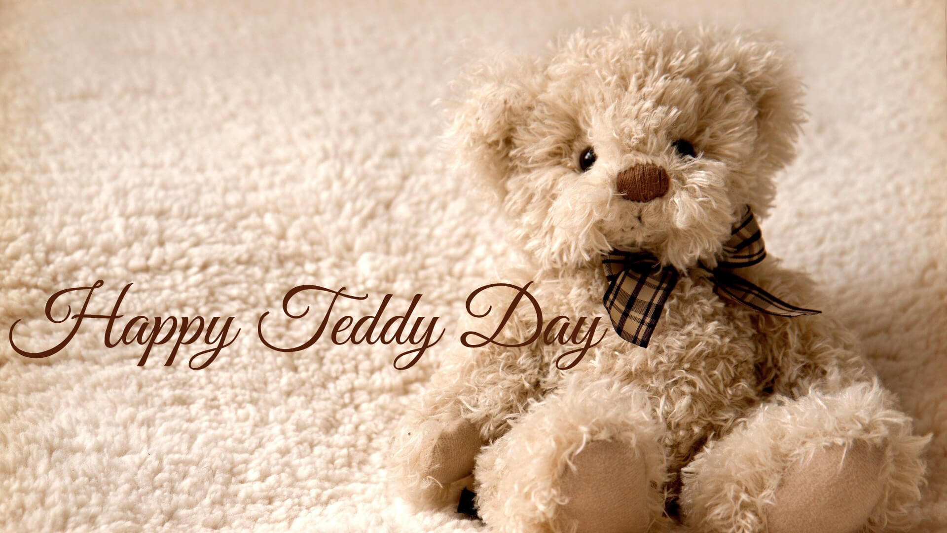 happy teddy day wishes cute bear large image background hd wallpaper