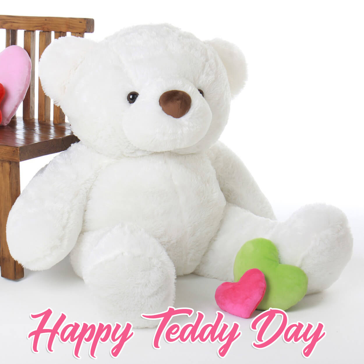 happy teddy day wishes white bear image february 10th hd wallpaper