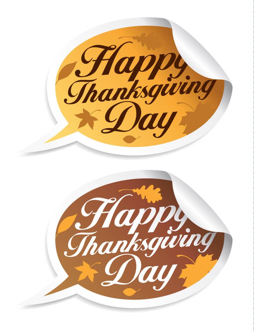 happy thanksgiving day callout dialog vector wallpaper