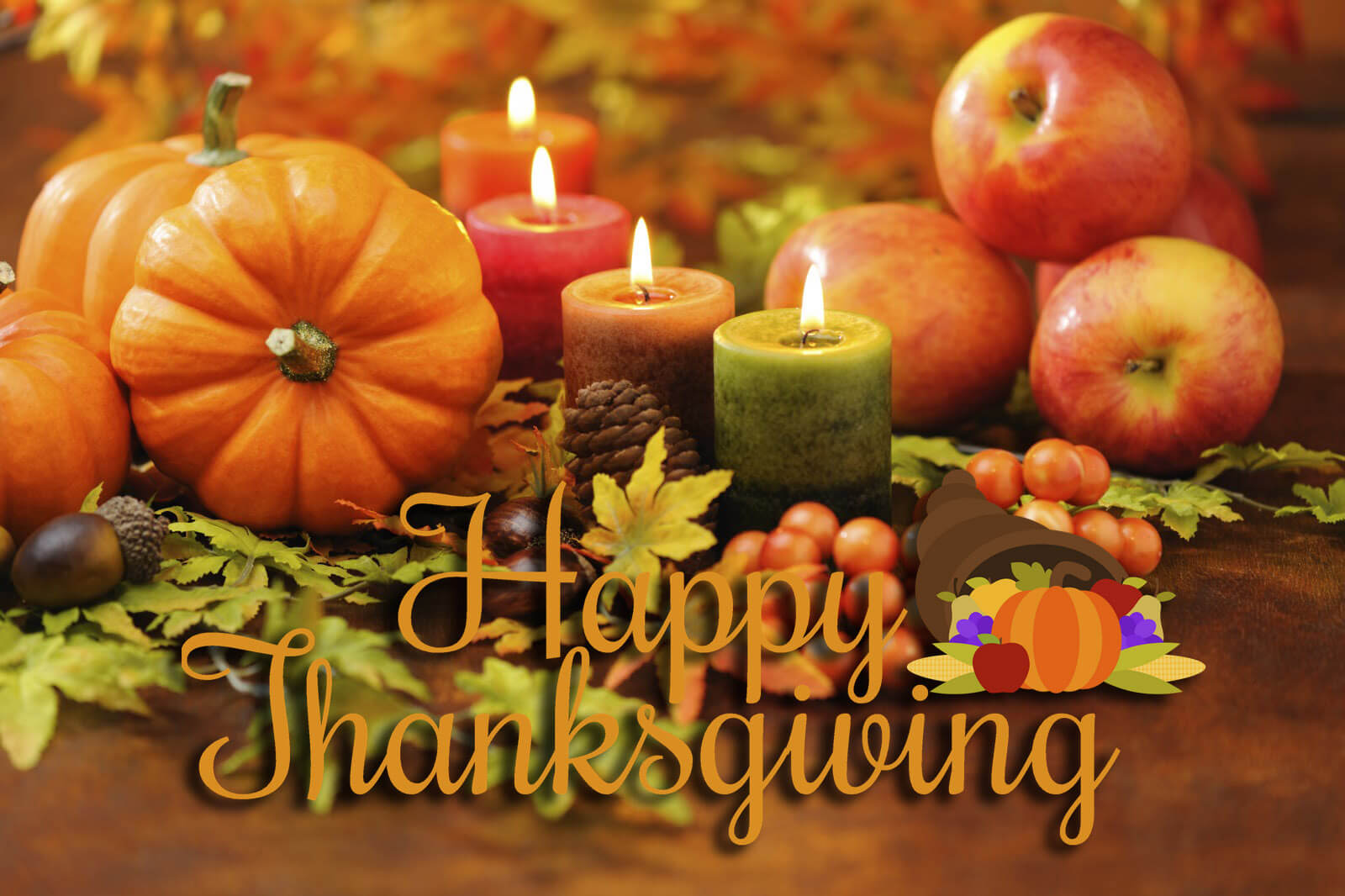 happy thanksgiving day pumpkin candles hd latest wallpaper