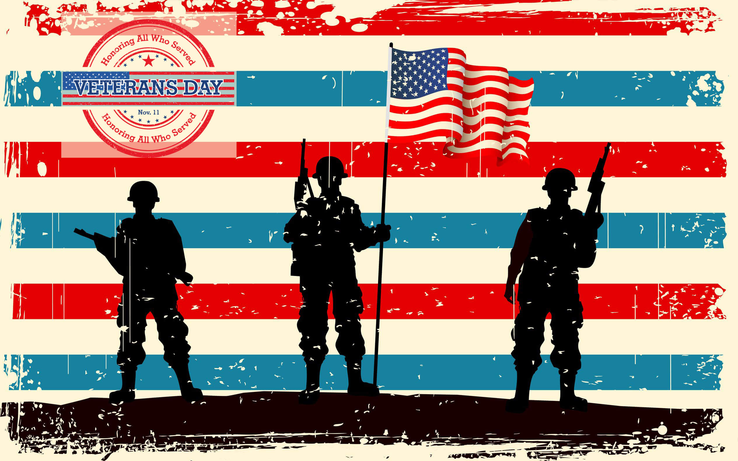happy veterans day background silhouette hd wallpaper