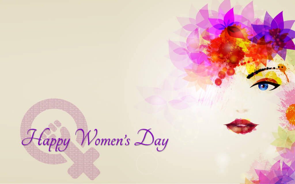 happy womens day greetings modern hd wallpaper