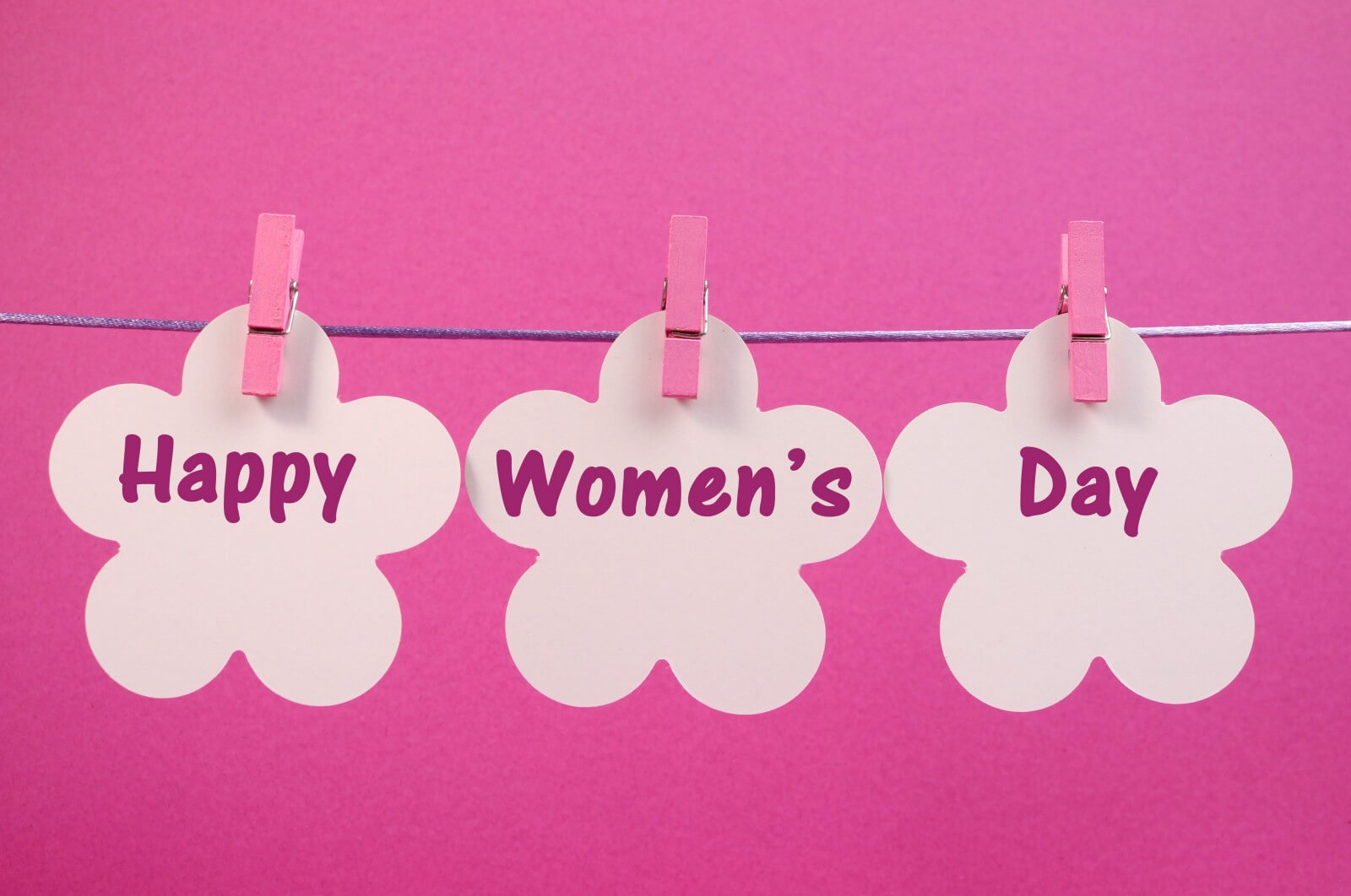 happy womens day greetings paper flower wallpaper
