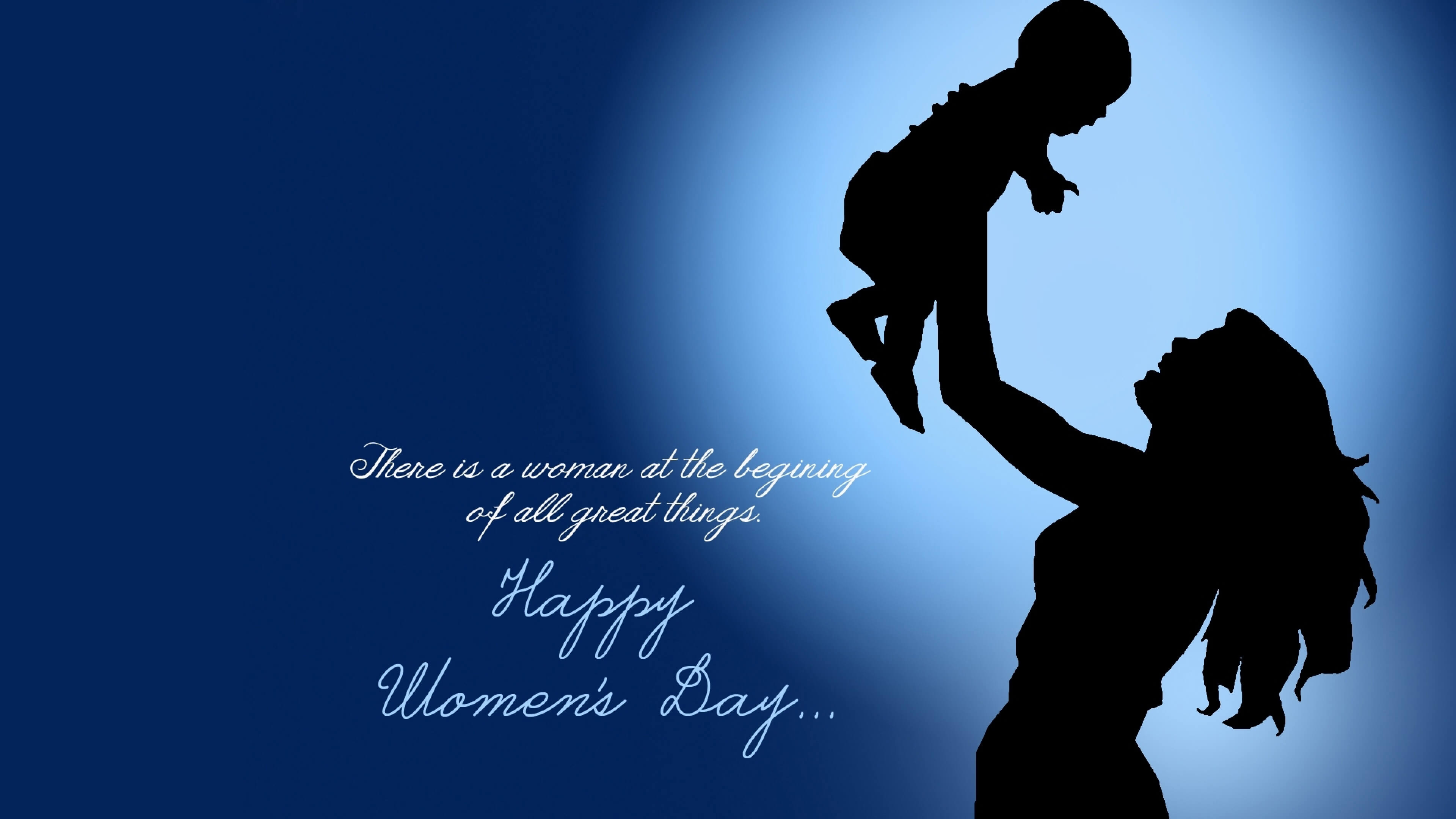happy womens day quotes silhouette hd wallpaper