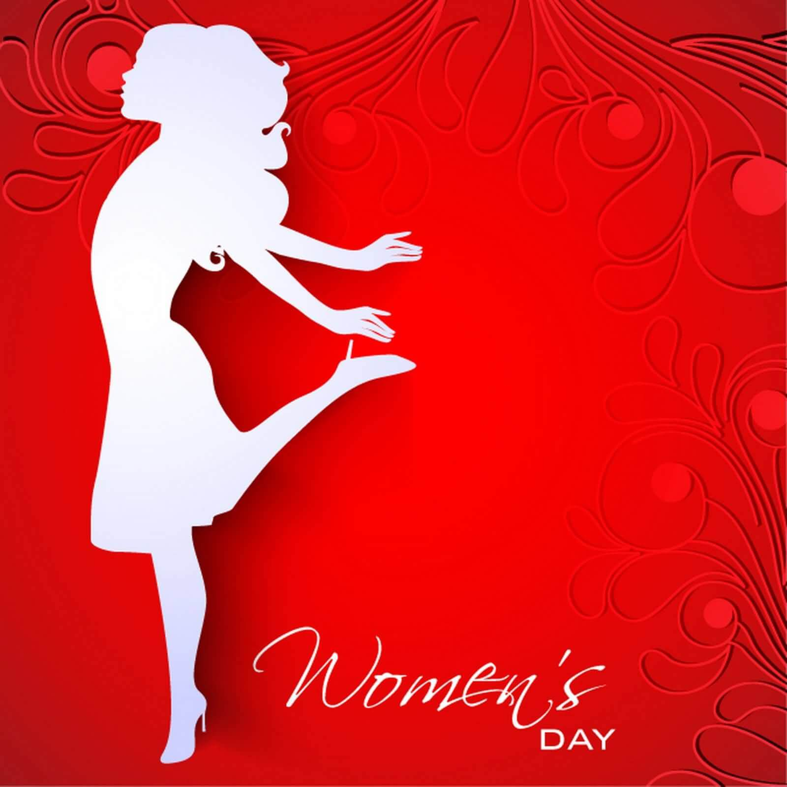 happy womens day wishes hd wallpaper silhouette